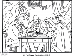 Coloring page paul cezanne free to color for children