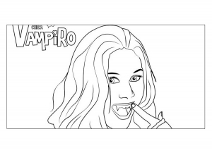 Coloring page chica vampiro to print for free