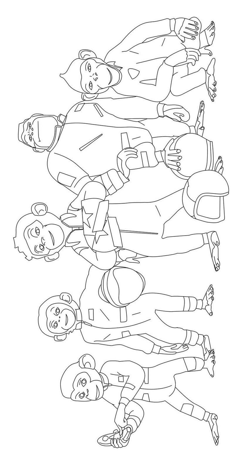 Chimpanzees In Space coloring page to download for free
