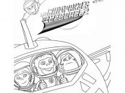 Chimpanzees In Space Coloring Pages for Kids