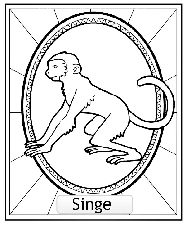 Free Chinese Astrological Signs coloring page to print and color