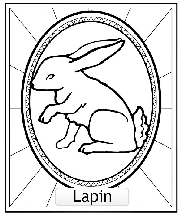 Free Chinese Astrological Signs coloring page to print and color, for kids