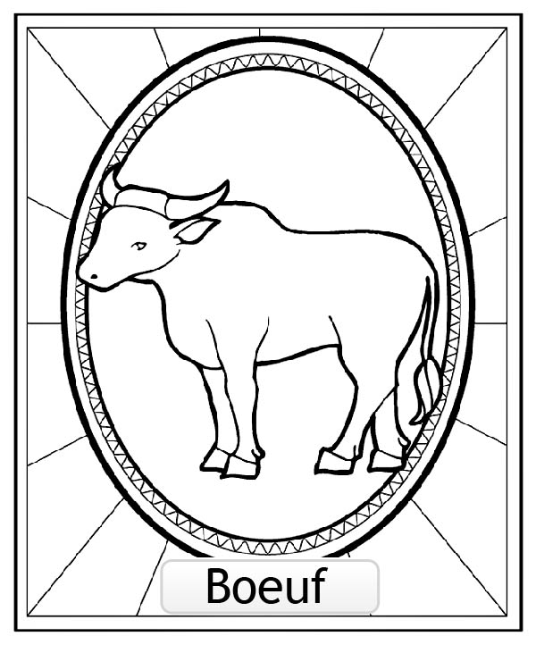 Beautiful Chinese Astrological Signs coloring page