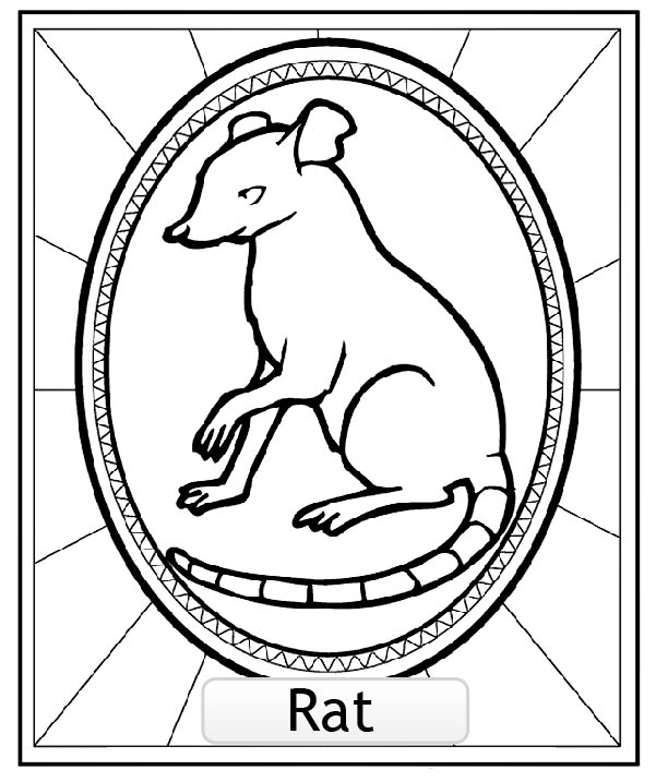 Funny Chinese Astrological Signs coloring page for kids