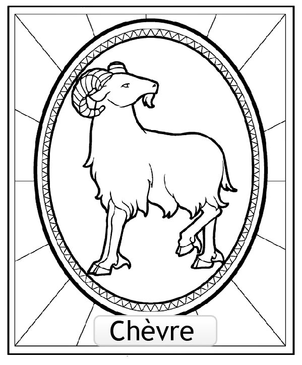 Chinese Astrological Signs coloring page to download for free