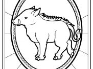Chinese Zodiac Coloring Pages for Kids