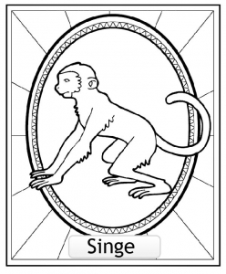 Coloring page chinese astrological signs to print