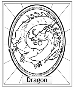 Coloring page chinese astrological signs for kids