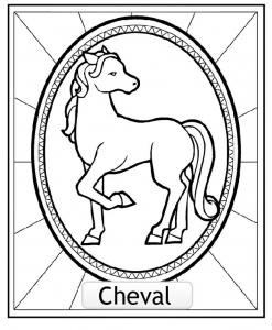 Coloring page chinese astrological signs to download