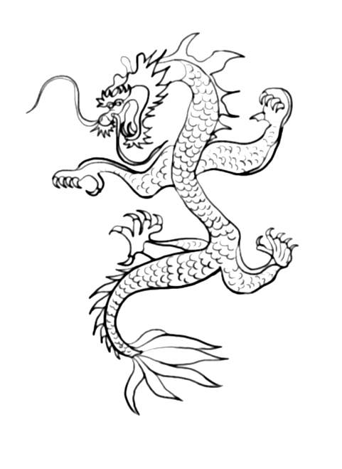 Free Chinese New Year coloring page to download