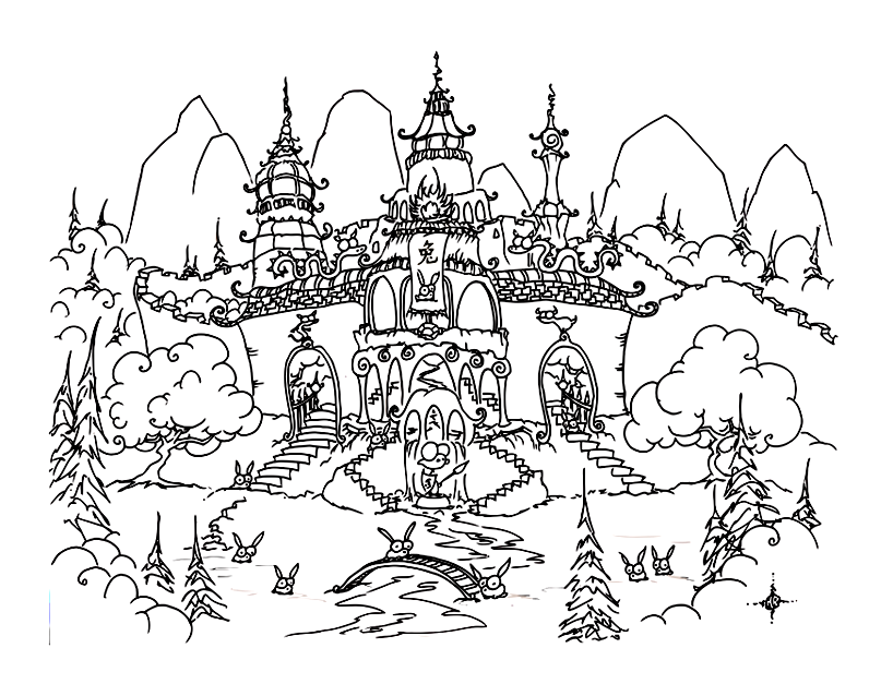 Printable Chinese New Year coloring page to print and color for free