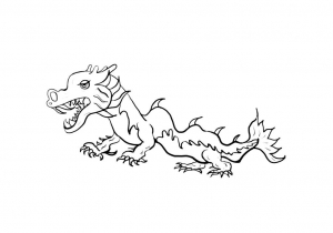 Beautiful Chinese New Year Coloring Page