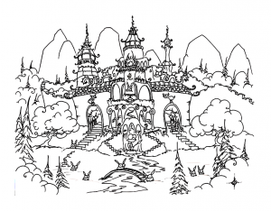 Coloring page chinese new year free to color for children
