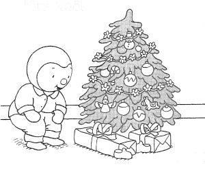 Coloring page christmas tree free to color for children