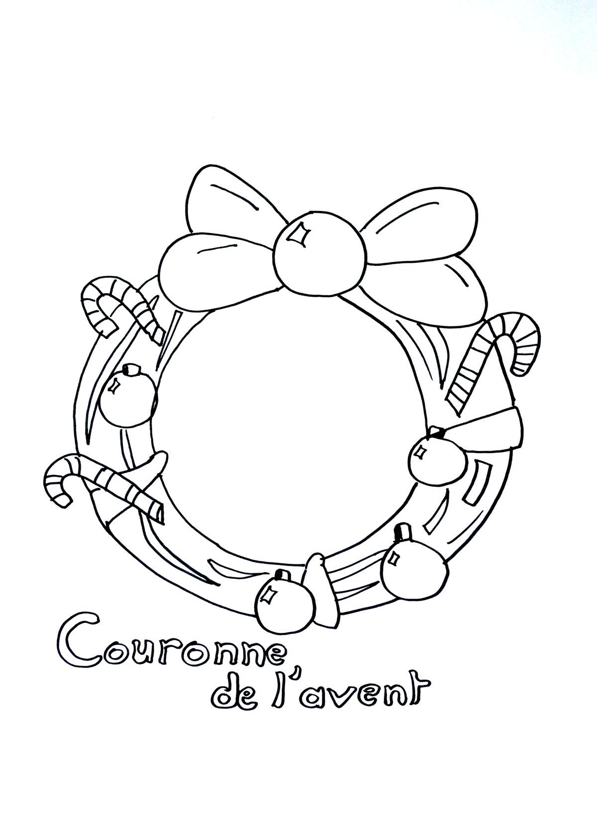 Printable Christmas coloring page to print and color