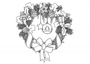 Coloring page christmas to download