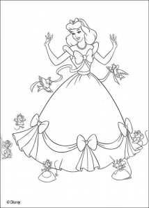 Coloring page cinderella for children