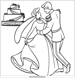 Coloring page cinderella free to color for kids
