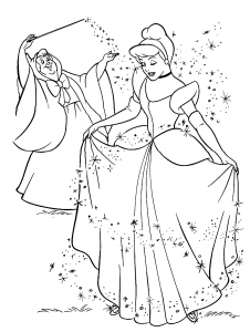 Coloring page cinderella to download