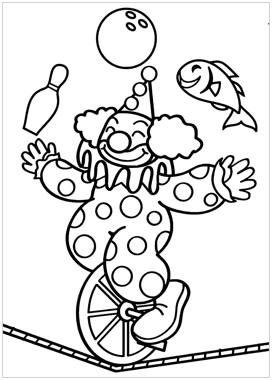 Цирк картинка для детей раскрашивать