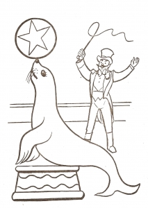 Coloring page circus to download for free
