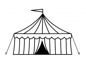 Coloring page circus free to color for children