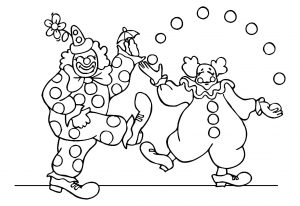 Coloring page circus for children