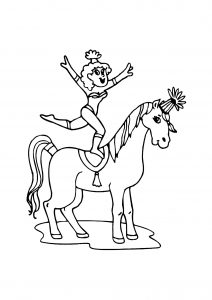 Coloring page circus to print