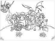 Clash Of Clans Coloring Pages for Kids