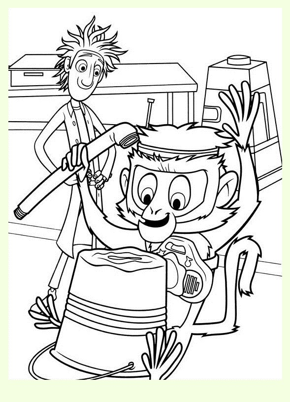 Cloudy with a Chance of Meatballs coloring page to download for free