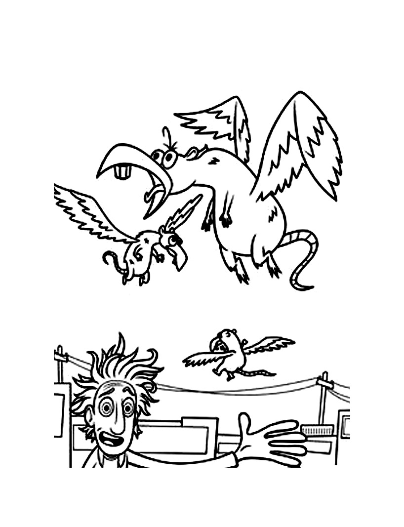 Cloudy with a chance of meatballs free to color for children ...