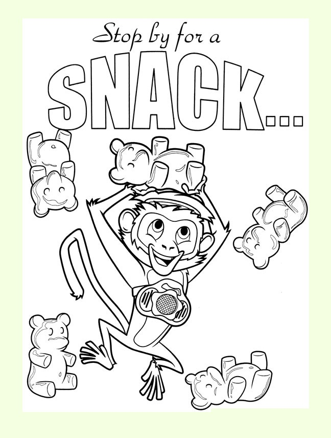 Free Cloudy with a Chance of Meatballs coloring page to print and color