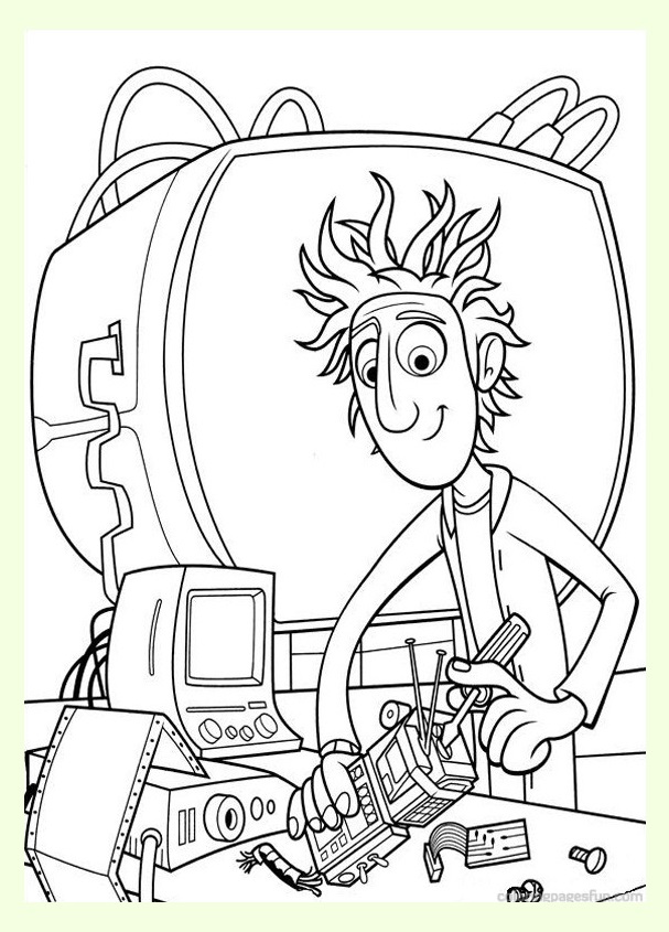 Beautiful Cloudy with a Chance of Meatballs coloring page