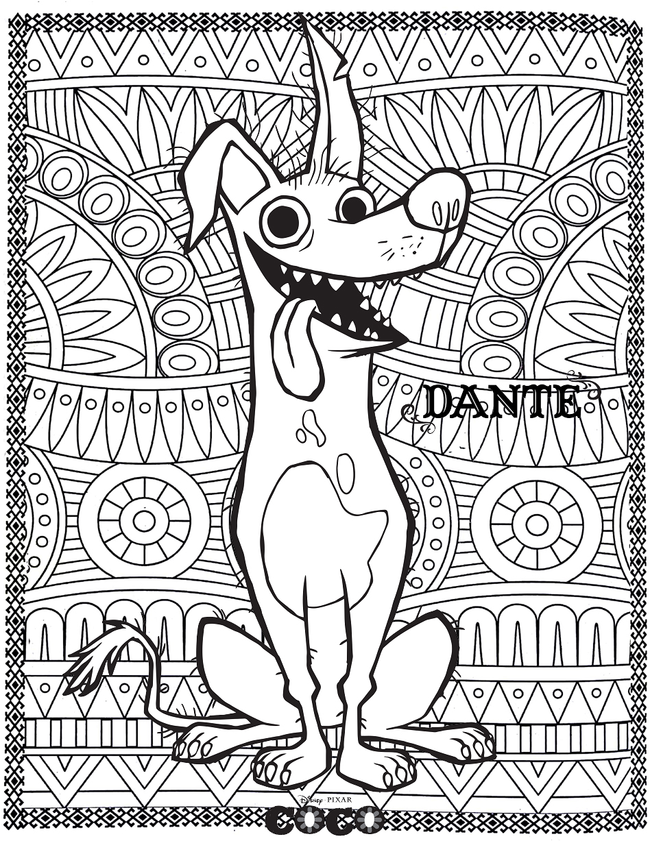 Free Coco Coloring Page To Print And Color