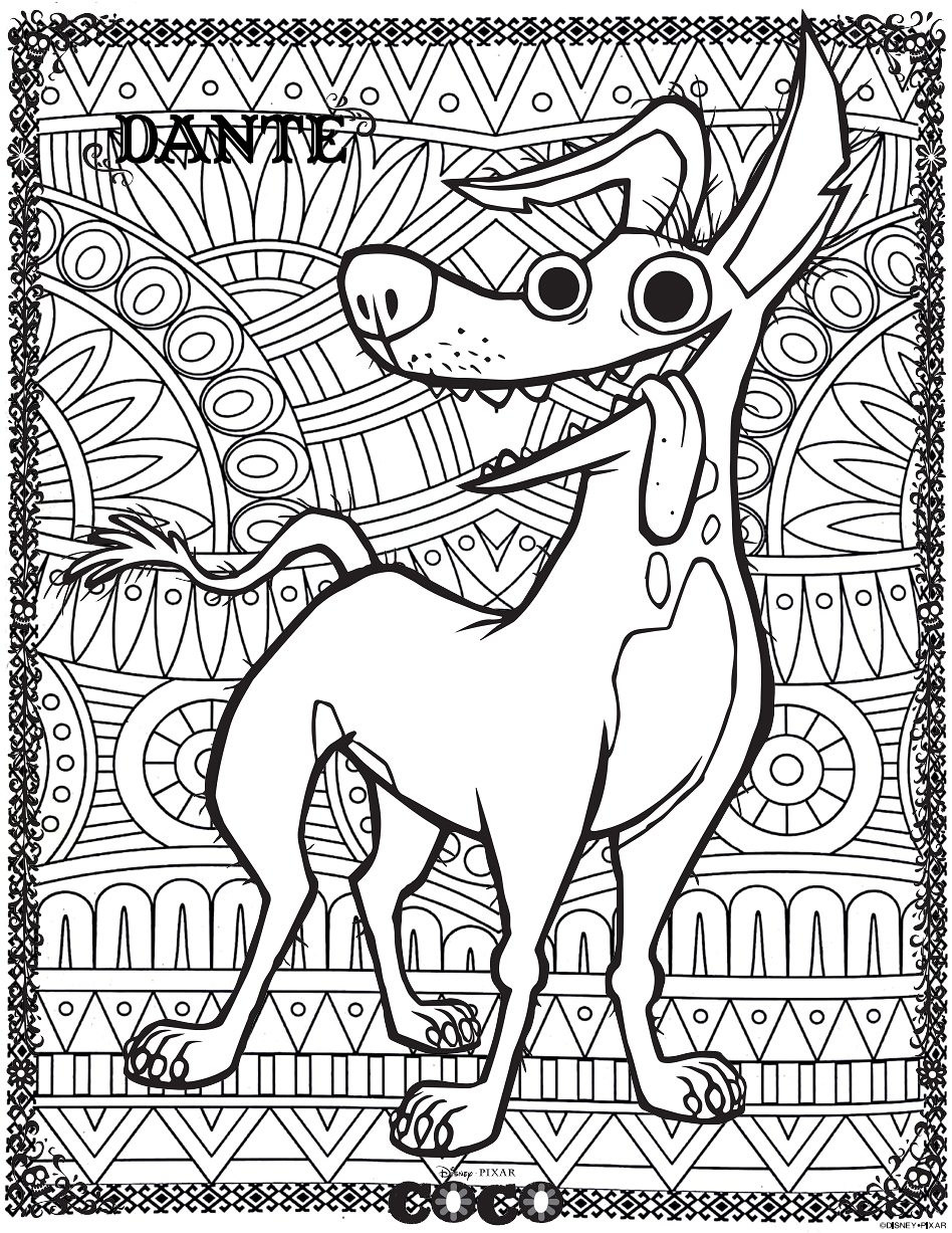 Coco coloring pages. Have fun to print and color Coco drawings ... | 1227x948