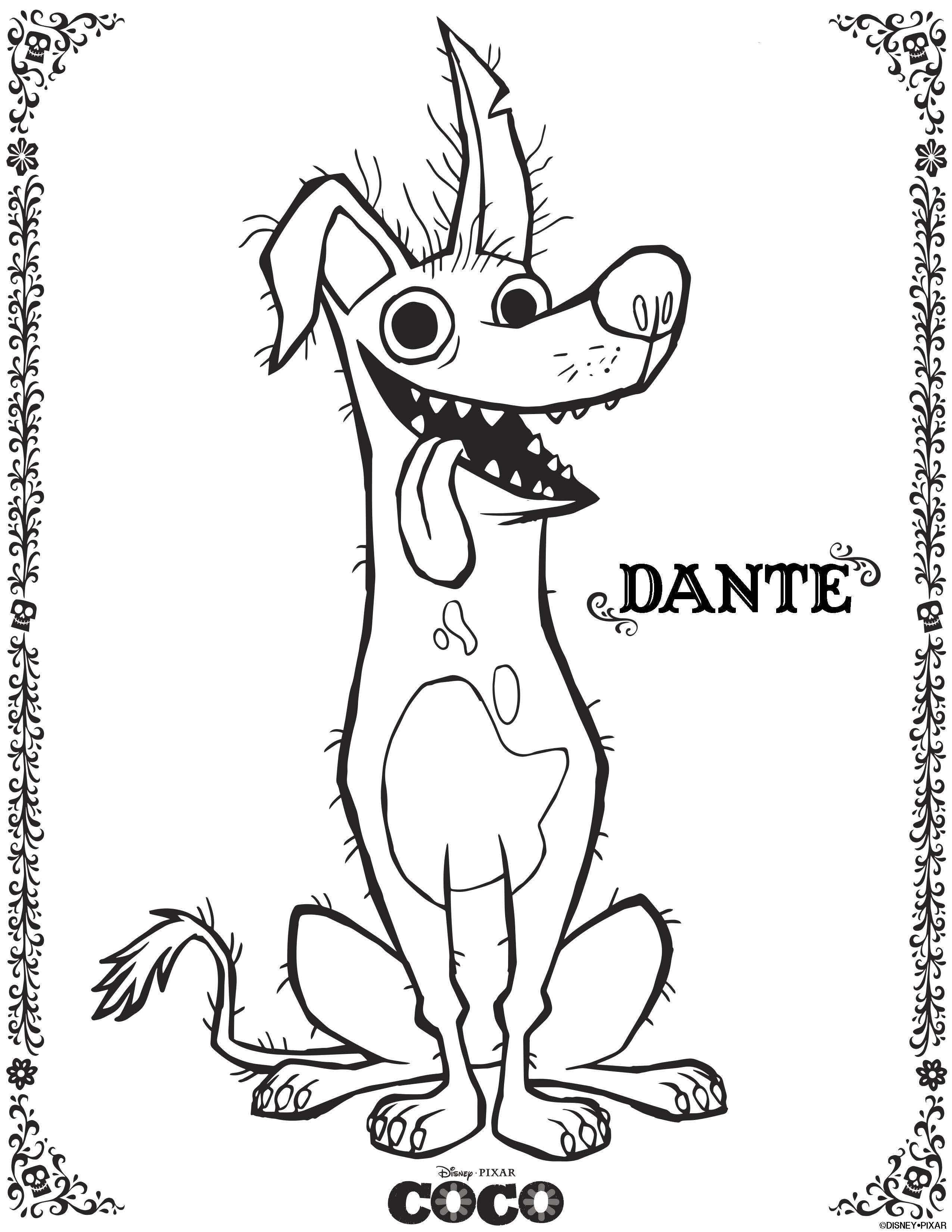 Coco Free To Color For Children Coco Kids Coloring Pages