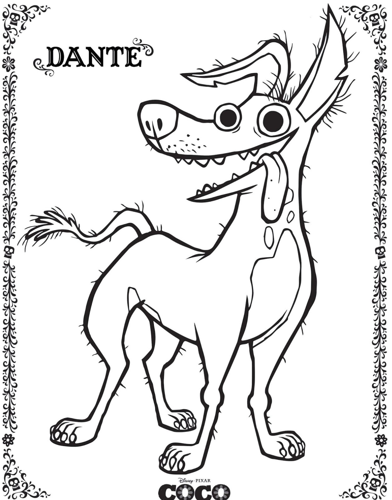Coco free to color for kids - Coco Kids Coloring Pages