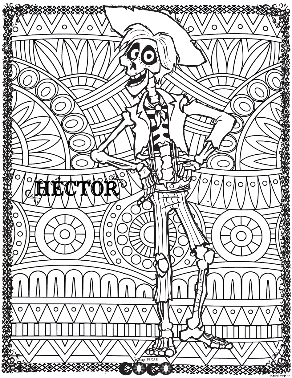 Coco To Color For Kids Coco Kids Coloring Pages