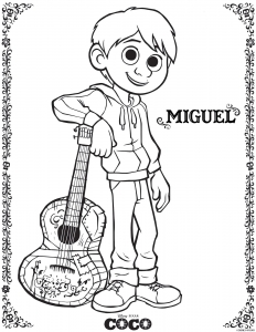 Coloring page coco to color for kids