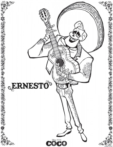 Incredible Coco Coloring Page To Print And Color For Free