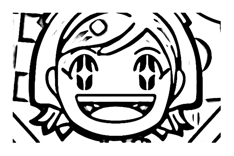 Simple Cooking Mama coloring page for kids