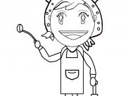 Cooking Mama Coloring Pages for Kids