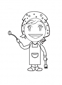 Coloring page cooking mama to print