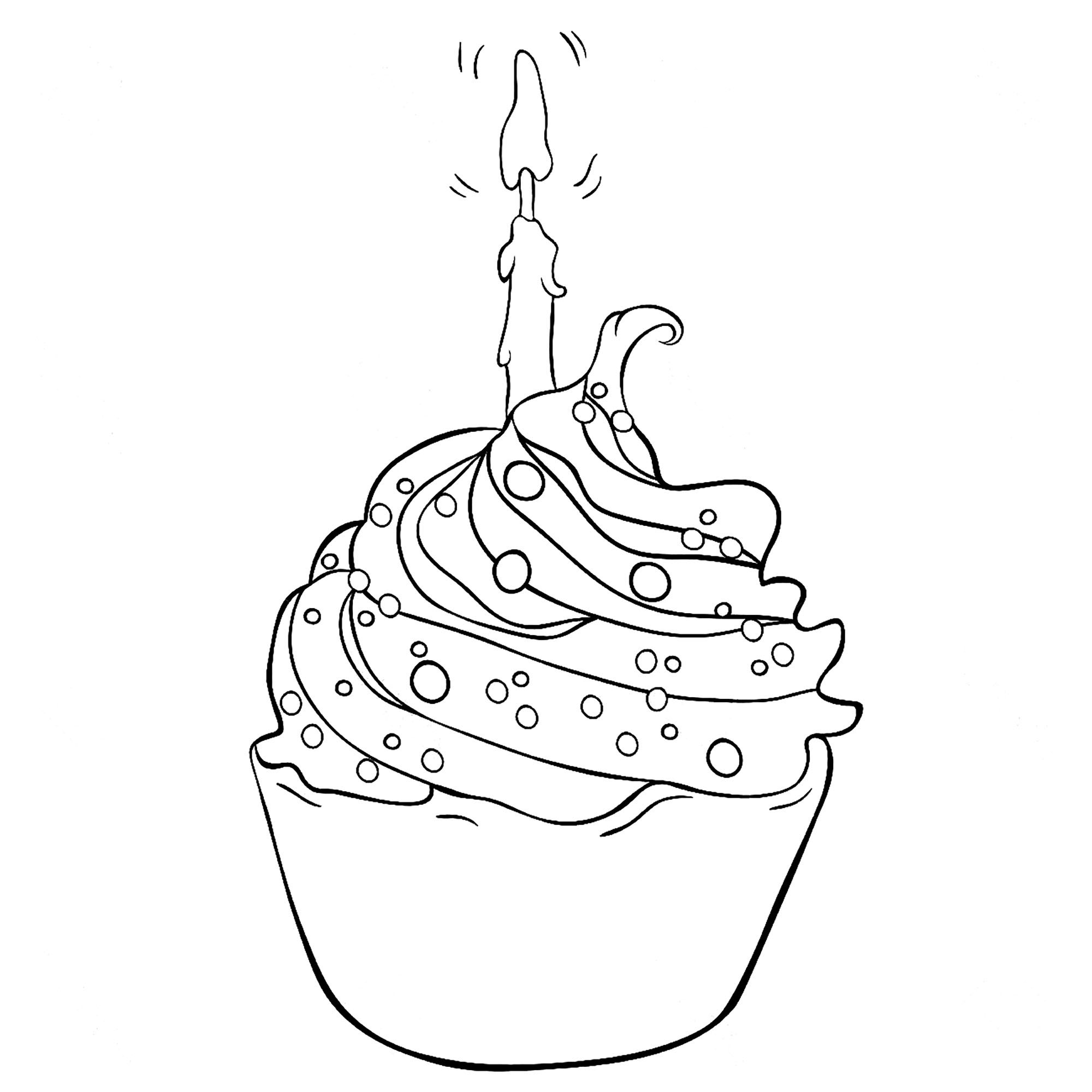 Cupcakes And Cakes coloring page to download