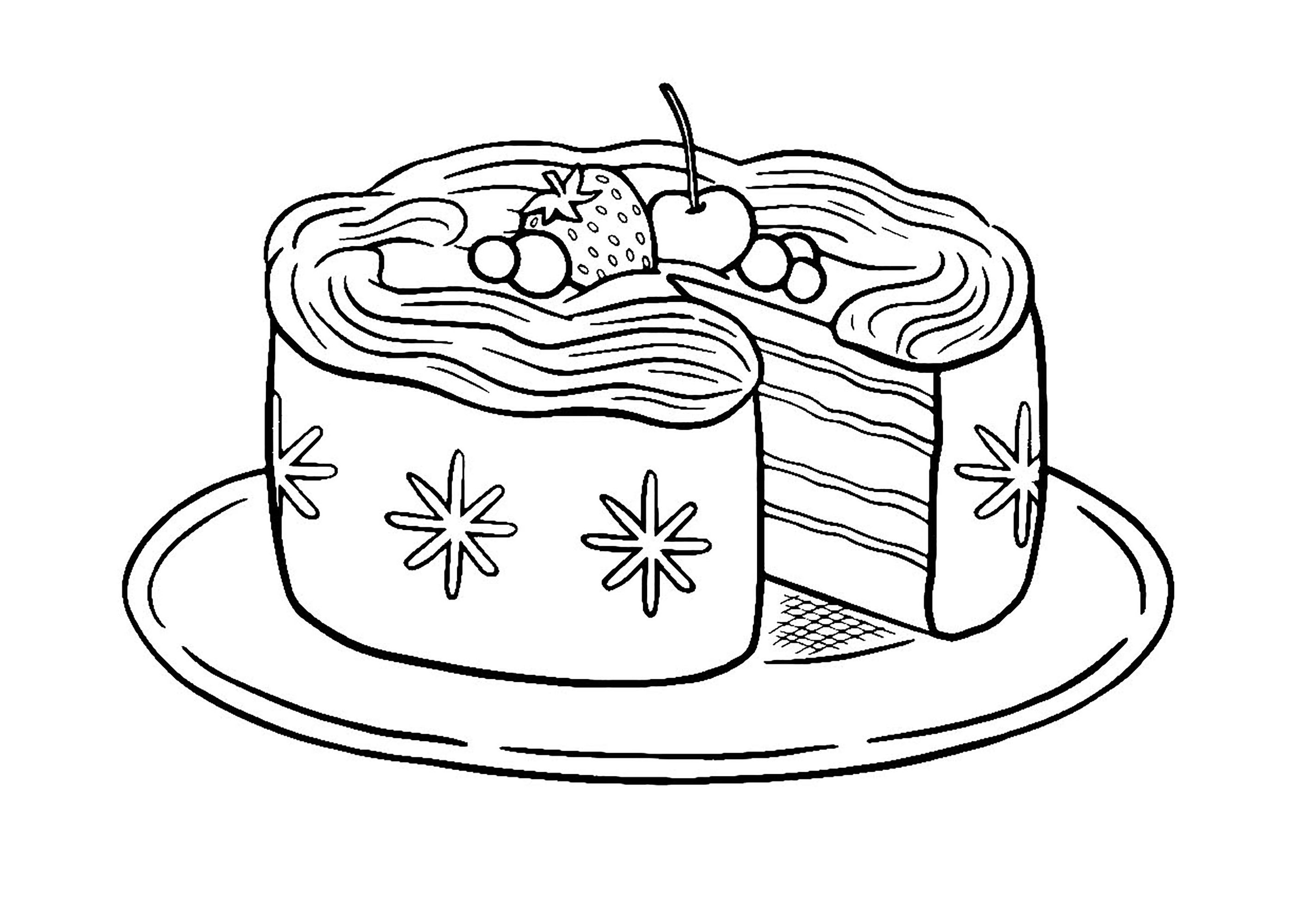 Cupcakes and cakes free to color for kids - Cupcakes And ...