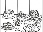 Cupcakes And Cakes Coloring Pages for Kids