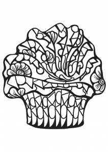 Coloring page cupcakes and cakes for children