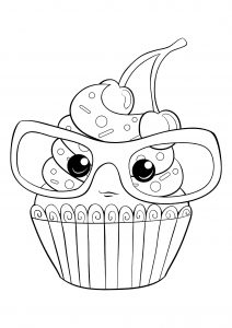 Coloring page cupcakes and cakes to download