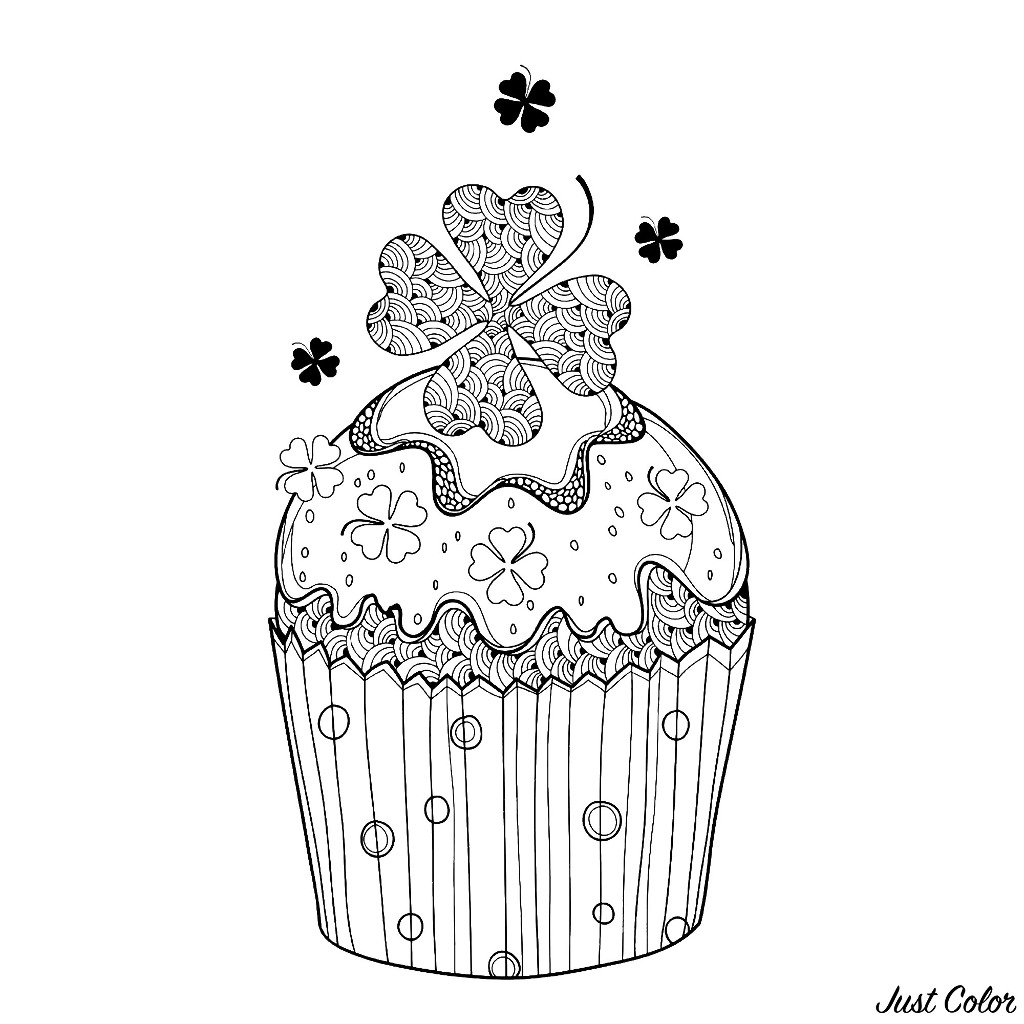 Cupcakes And Cakes coloring page to download for free