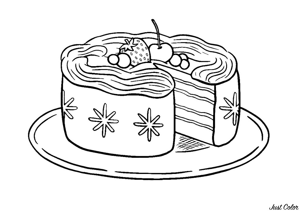 Free Cupcakes And Cakes coloring page to download
